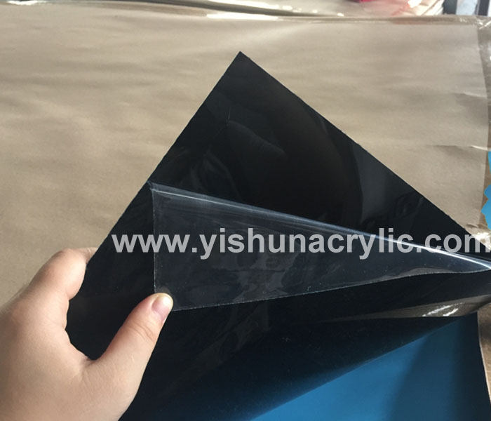 1mm Thickness Black Color Mirror Acrylic Sheet Plexiglass Mirror Plastic Sheet Guangdong Yishun Material Limited