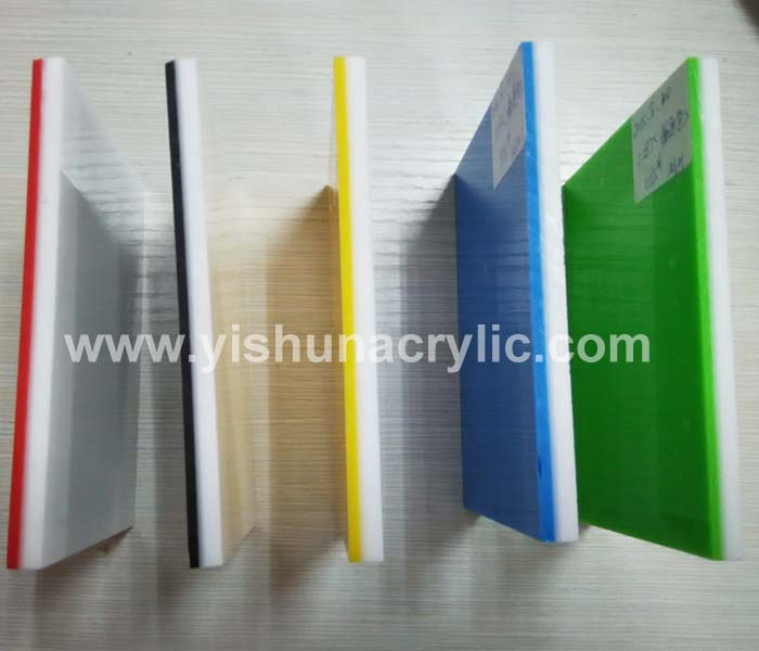 high quality acrylic sheet two color/ two layer double color acrylic ...